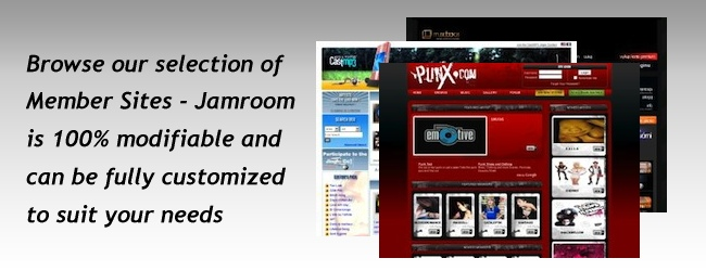 Browse a selection of Jamroom sites and check out the creative designs - Jamroom can be fully customized to suit your needs